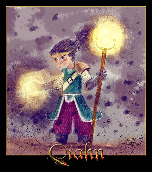 Niño mago de Qíahn